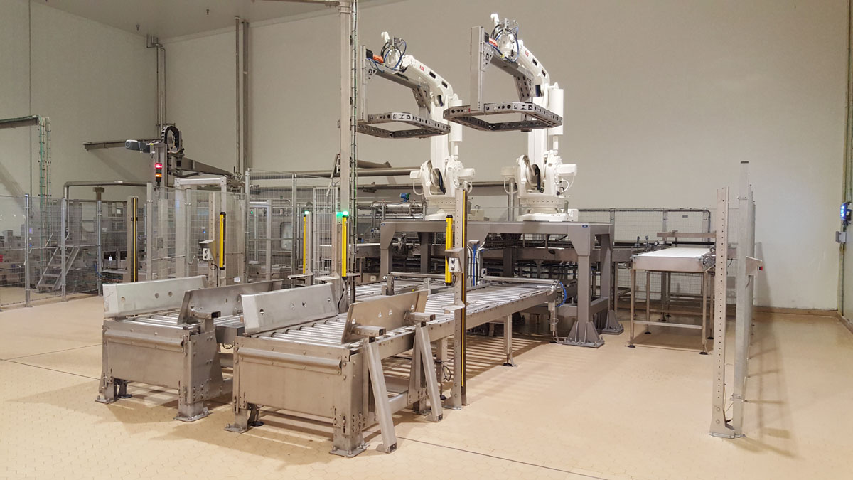 Reference project for automation of packaging and logistics for semi-hard cheese production line